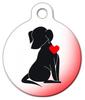 Dog Tag Art Loving Dog Silhouette Pet ID Dog Tag