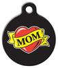Dog Tag Art Mom Heart Tattoo Pet ID Dog Tag