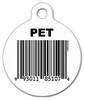 Dog Tag Art Bar Code Pet ID Dog Tag