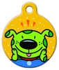 Dog Tag Art Happy Dog Pop Art Pet ID Dog Tag