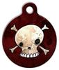 Dog Tag Art Skull and Crossbones Pet ID Dog Tag