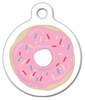 Dog Tag Art Strawberry Frosted Donut Pet ID Dog Tag