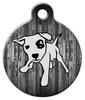 Dog Tag Art Wood Panel Pet ID Dog Tag
