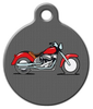 Dog Tag Art Red Motorcycle Pet ID Dog Tag