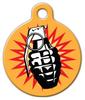 Dog Tag Art Grenade Pet ID Dog Tag