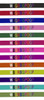 Embroidery color samples on nylon swatch