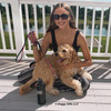 Mylo and his mom with Coastal Pet Ribbon Leash