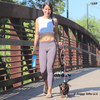 Sadie and her mom taking an afternoon walk wearing Coastal Pet K9 explorer harness and rope leash