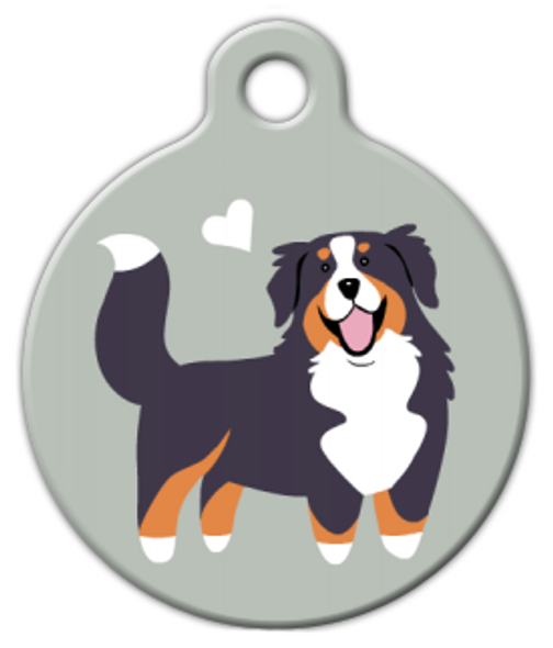 Dog Tag Art Bernese Mountain Dog Doggie Pet ID Dog Tag