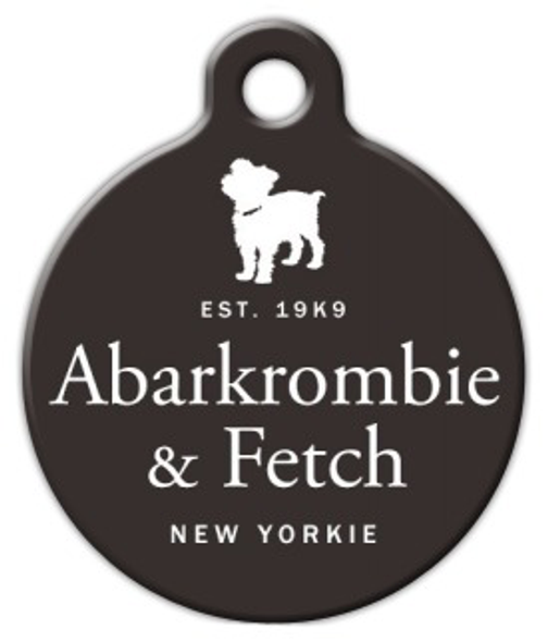 Dog Tag Art Abarkrombie & Fetch New Yorkie Pet ID Dog Tag
