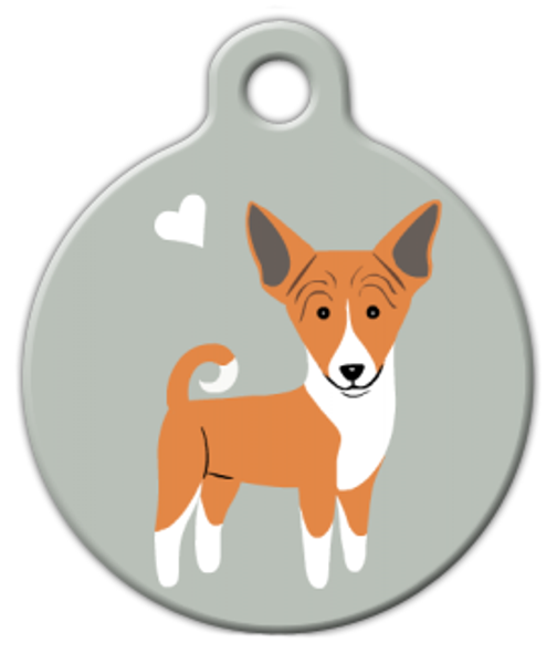 Dog Tag Art Basenji Doggie Pet ID Dog Tag