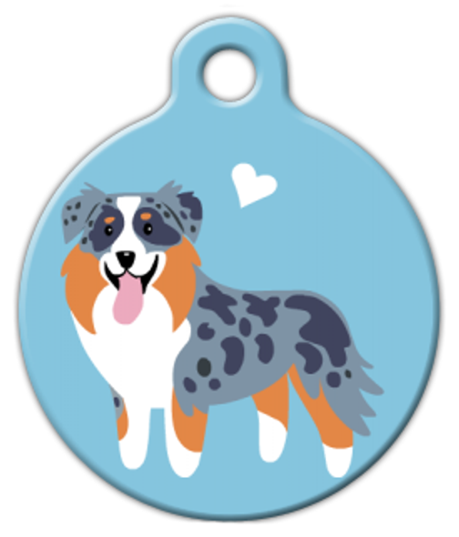 Dog Tag Art Aussie Shepherd Doggie Pet ID Dog Tag