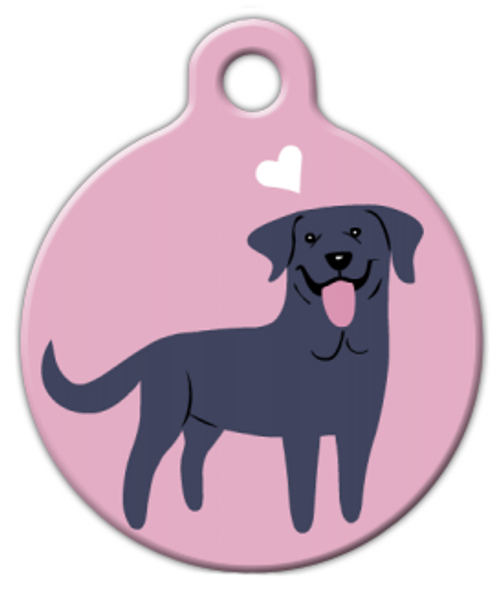 Dog Tag Art Black Labrador Doggie Pet ID Dog Tag