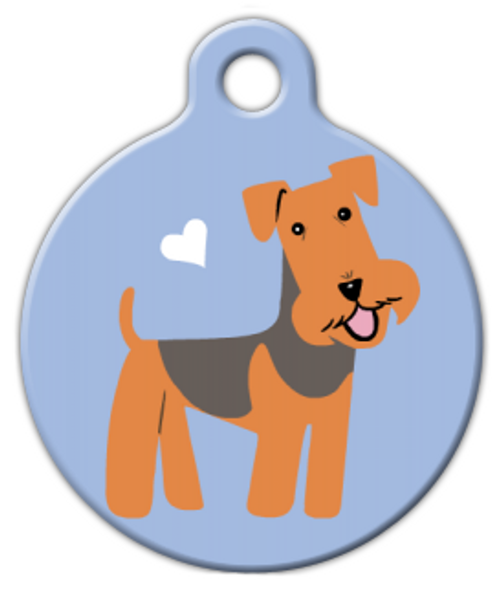 Dog Tag Art Airedale Terrier Doggie Pet ID Dog Tag