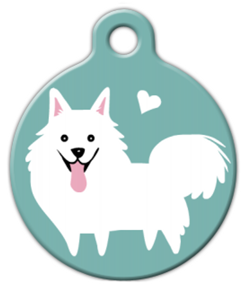 Dog Tag Art American Eskimo Doggie Pet ID Dog Tag