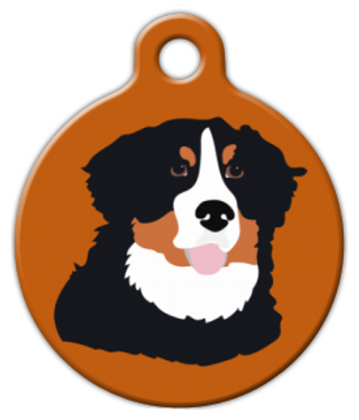 Dog Tag Art Bernese Mountain Dog Pet ID Dog Tag