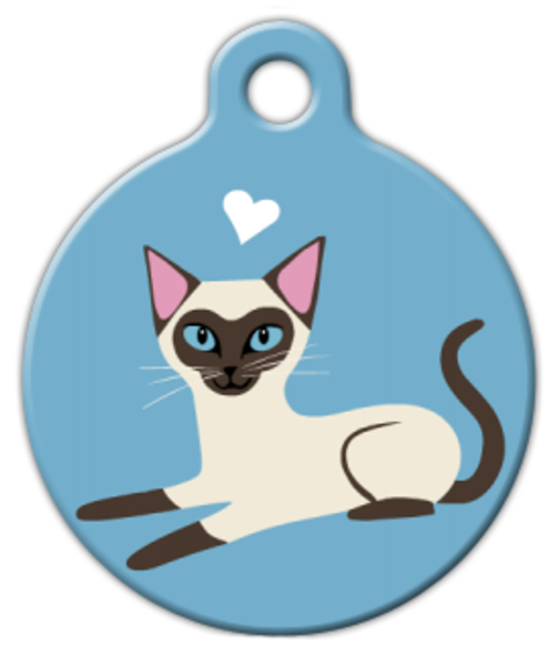 Dog Tag Art Siamese Kitty Pet ID Dog Tag