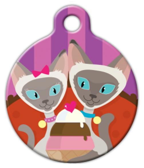 Dog Tag Art Siamese Sundae Pet ID Dog Tag