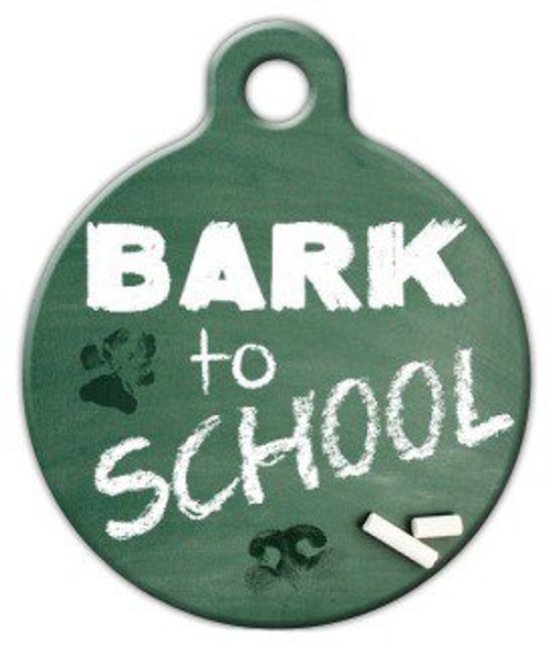 Dog Tag Art Bark To School Pet ID Dog Tag