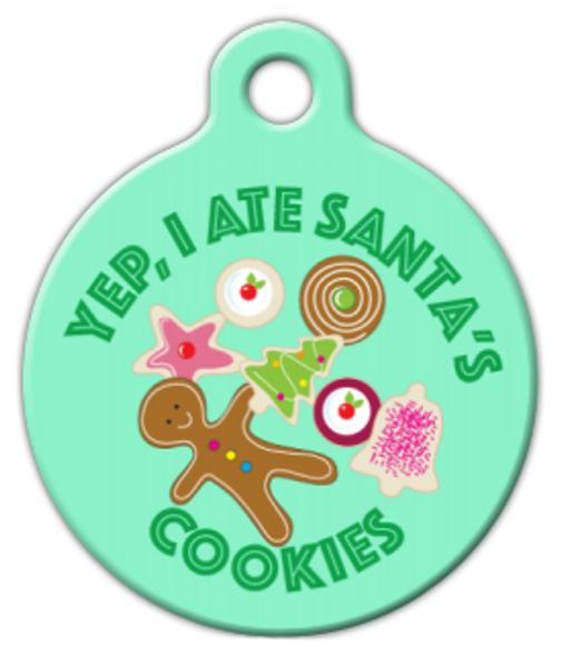 Dog Tag Art Christmas Cookie Fiend Pet ID Dog Tag