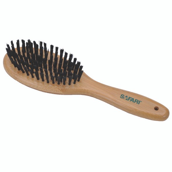 Safari Bristle Dog Brush with Bamboo Handle