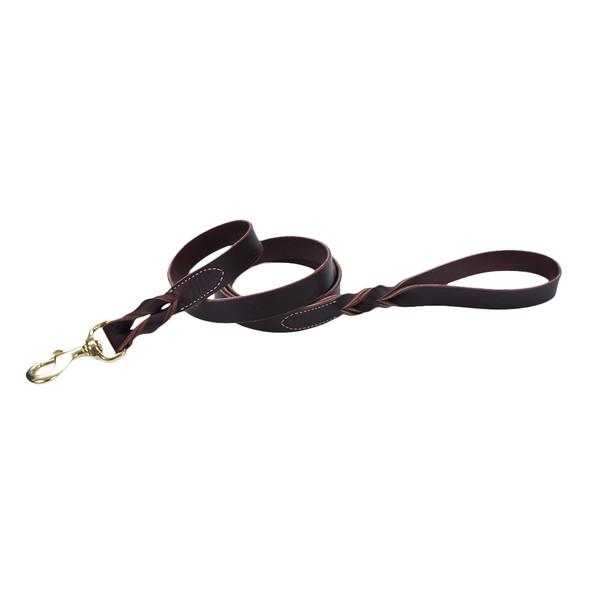 Circle T Leather Latigo Twist Dog Leash Solid Brass Hardware (2065W)