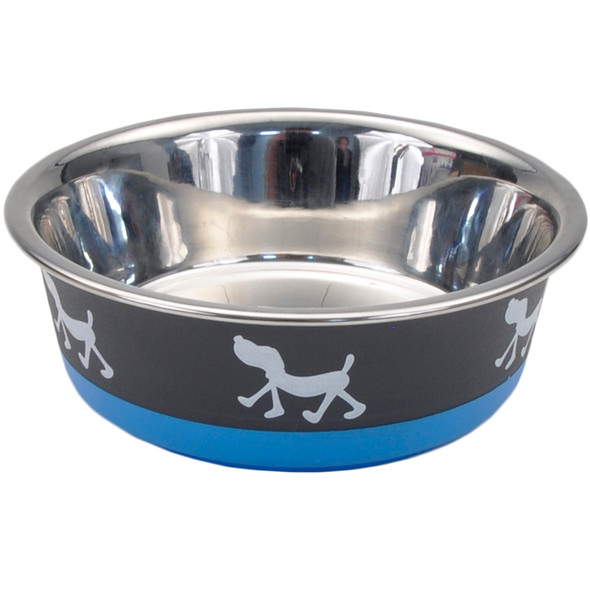 Maslow™ Design Series Pup Bowl (88450) Grey With Blue