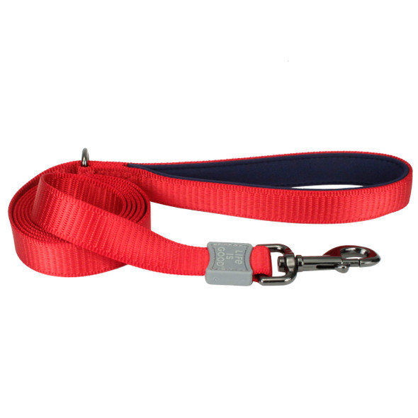 Life Is Good® Padded Dog Leash (15436D) Red
