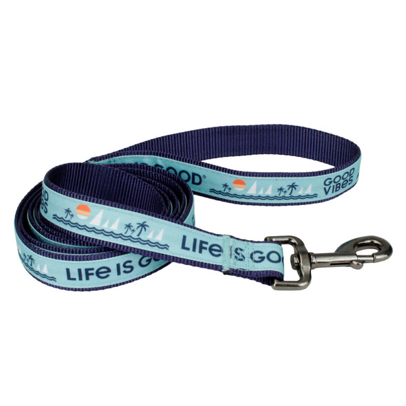 Life Is Good® Overlay Dog Leash (61456D) Blue Good Vibes