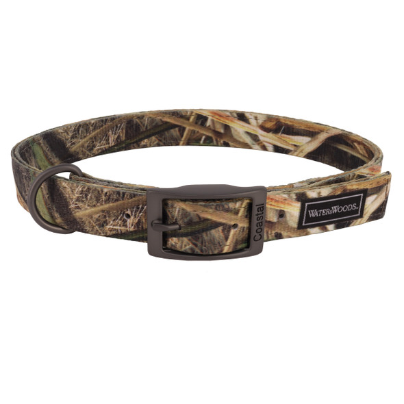 Water&Woods™ Double Ply Patterned Hound Dog Collar WW1 Shadow Grass Blades