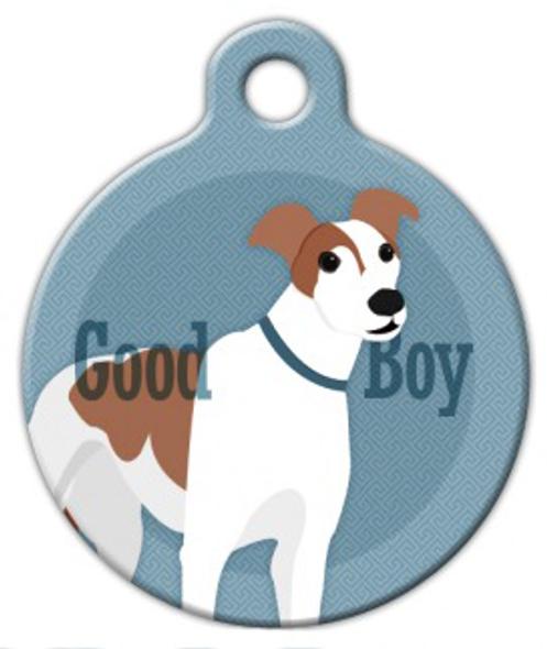 Dog Tag Art Good Boy Greyhound Pet ID Dog Tag