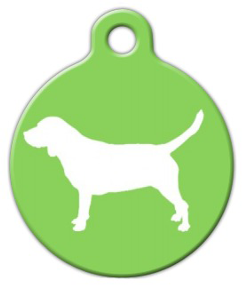 Dog Tag Art Beagle Silhouette Pet ID Dog Tag