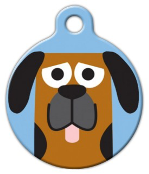 Dog Tag Art Blood Hound Boy Pet ID Dog Tag