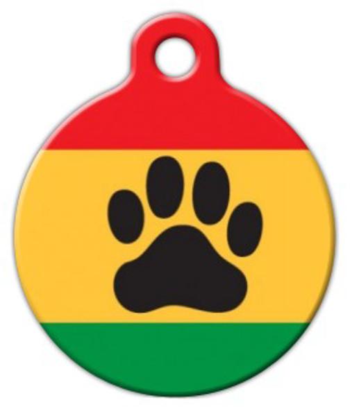 Dog Tag Art Rasta Paw Pet ID Dog Tag