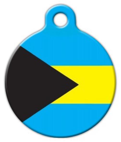 Dog Tag Art Bahamian Flag Pet ID Dog Tag