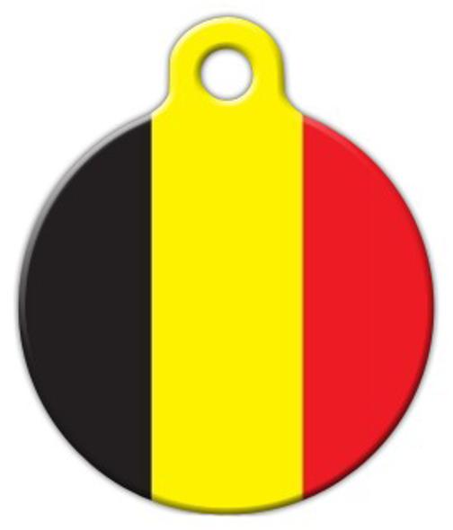 Dog Tag Art Belgian National Flag Pet ID Dog Tag