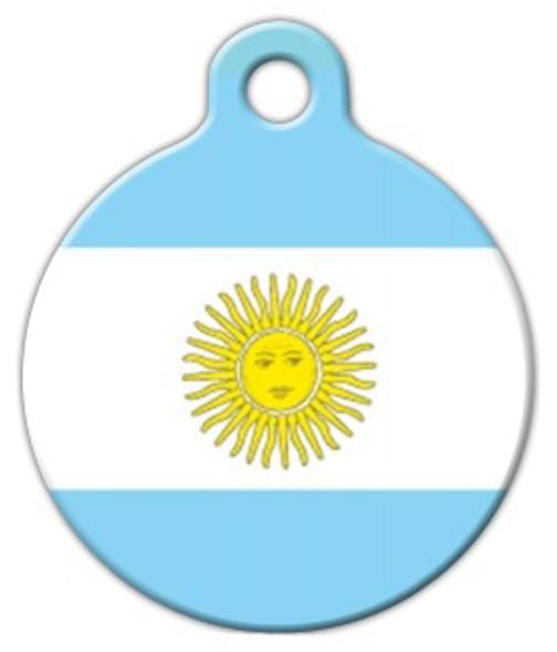 Dog Tag Art Argentina Flag Pet ID Dog Tag