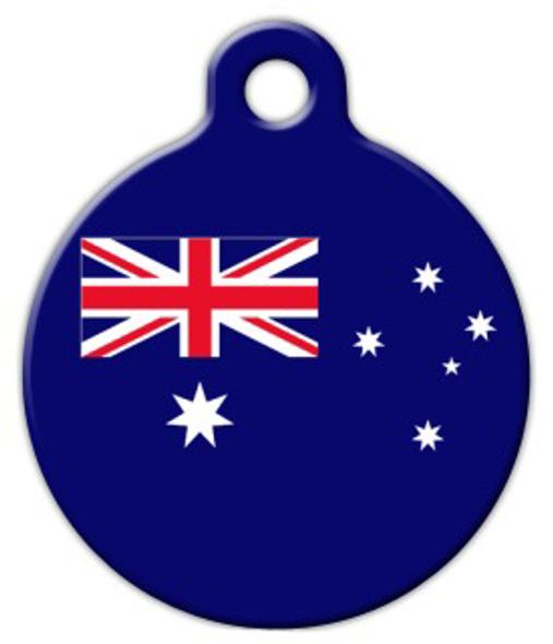 Dog Tag Art Australia Flag Pet ID Dog Tag