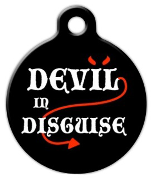 Dog Tag Art Devil in Disguise Pet ID Dog Tag