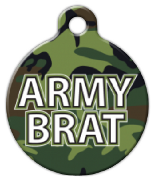Dog Tag Art Army Brat Camo Pet ID Dog Tag