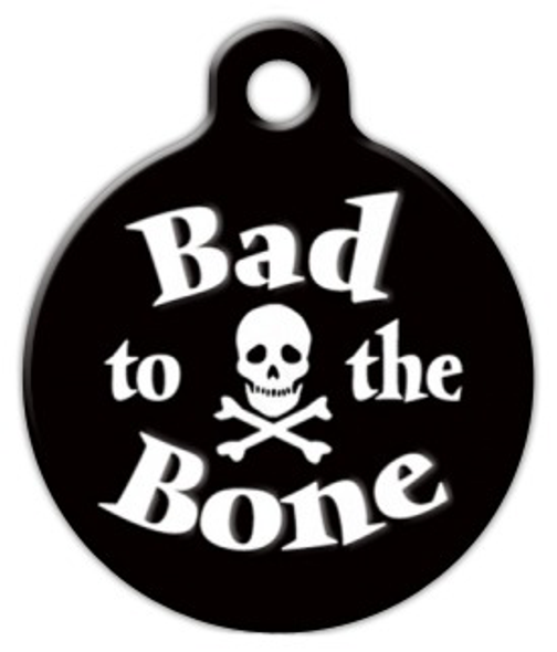 Dog Tag Art Bad to the Bone Pet ID Dog Tag