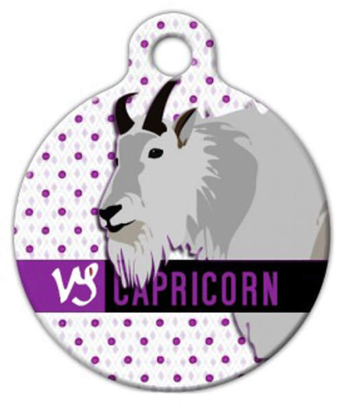 Dog Tag Art Capricorn Pet ID Dog Tag