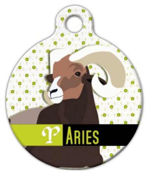 Dog Tag Art Aries Pet ID Dog Tag