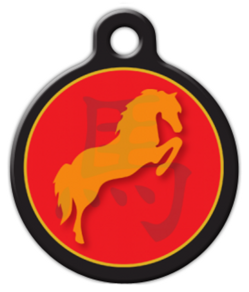 Dog Tag Art Chinese Zodiac Horse Pet ID Dog Tag