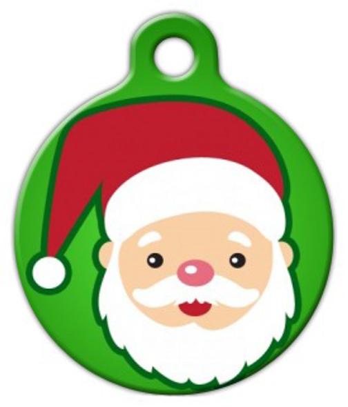 Dog Tag Art Cutie Santa Claus Pet ID Dog Tag