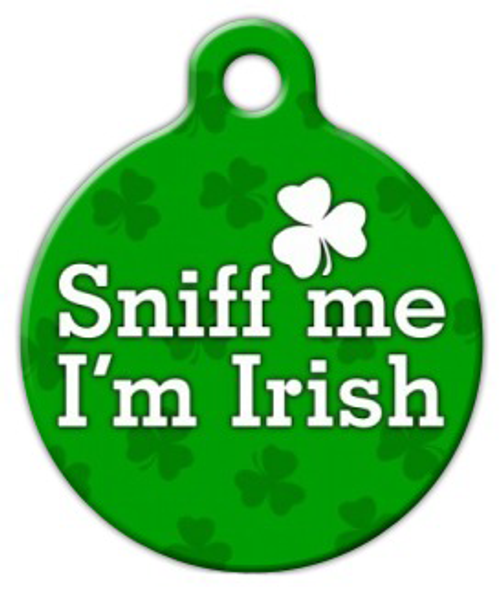 Dog Tag Art Sniff Me I'm Irish Pet ID Dog Tag