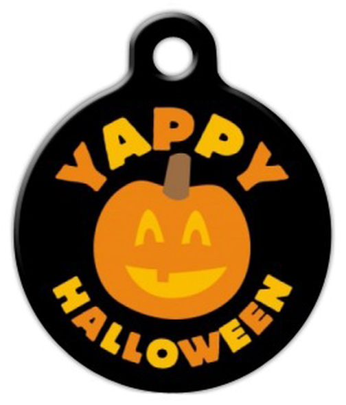 Dog Tag Art Yappy Halloween Pet ID Dog Tag