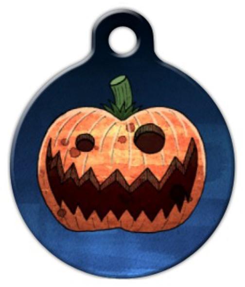 Dog Tag Art Evil Pumpkin Pet ID Dog Tag