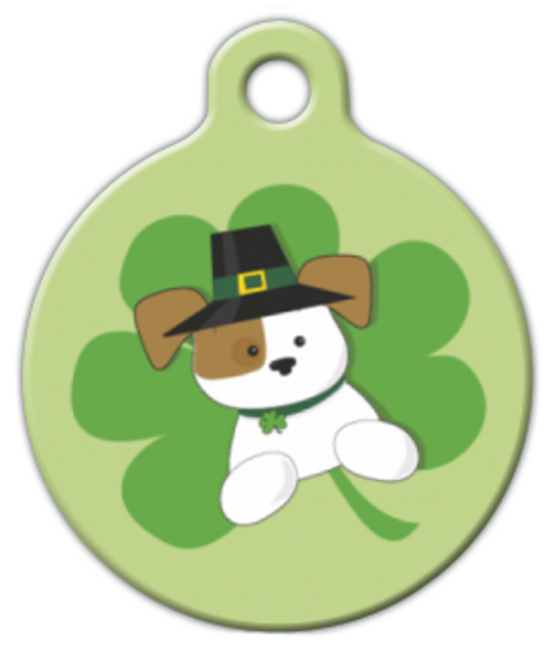 Dog Tag Art Pup of the Irish Pet ID Dog Tag