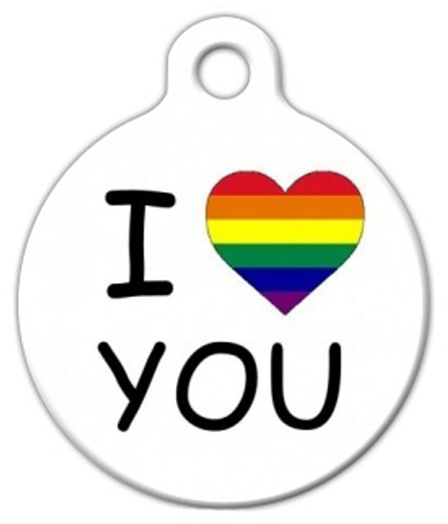 Dog Tag Art I 'Heart' You LGBT Pet ID Dog Tag